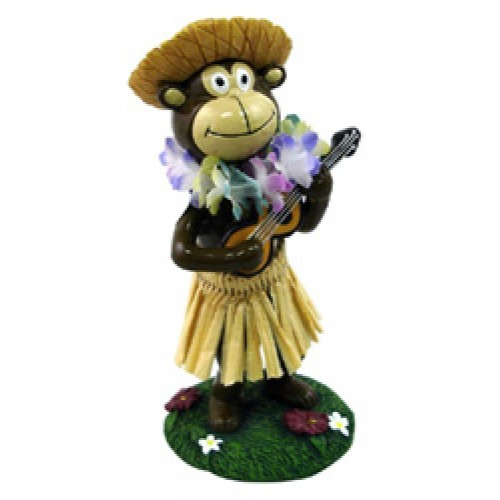 Miniature Hawaiian Dashboard Hula Doll - Monkey