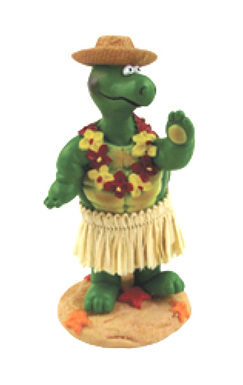 Miniature Hawaiian Dashboard Hula Doll - Turtle