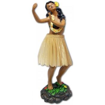 "7"" Leilani Hawaiian Dashboard Hula Girl Dancing - Natural"