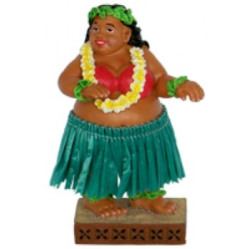 "4"" Miniature Hawaiian Dashboard Hula Doll Sweet Wahine"