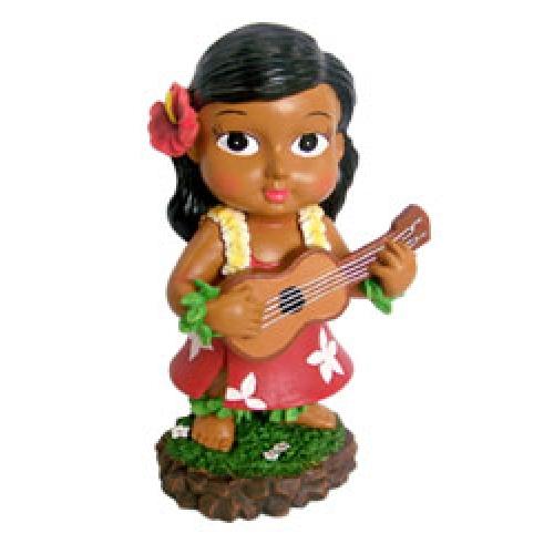 Miniature Hawaiian Keiki Dashboard Hula Doll with Ukulele