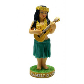 "4"" Minature Hawaiian Dashboard Hula Doll - Namele"