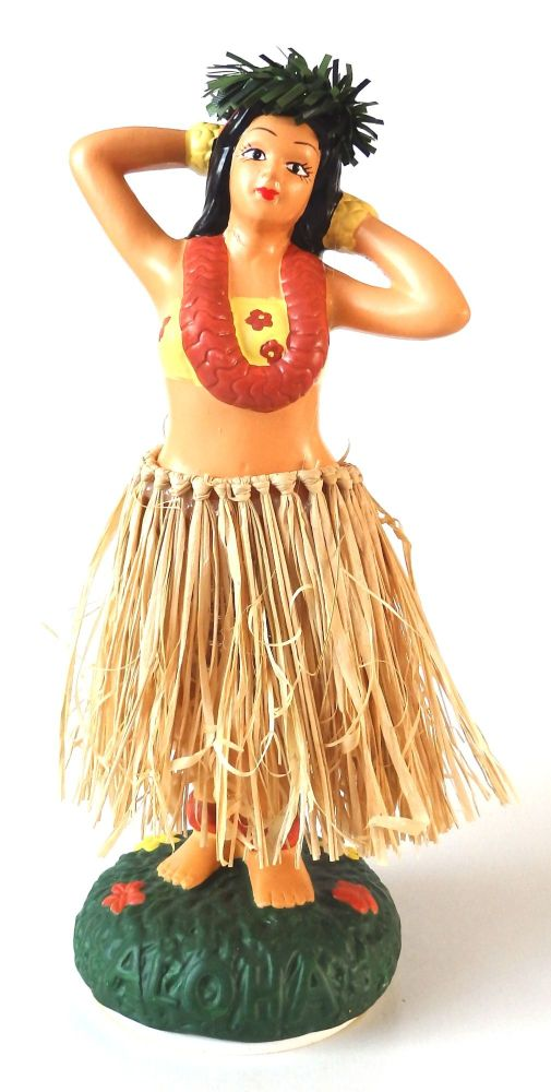 Hawaiian Porcelain Hula Dashboard Doll