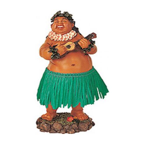 "7"" Leilani Hawaiian Dashboard Hula Doll Bradda Ed - Green"
