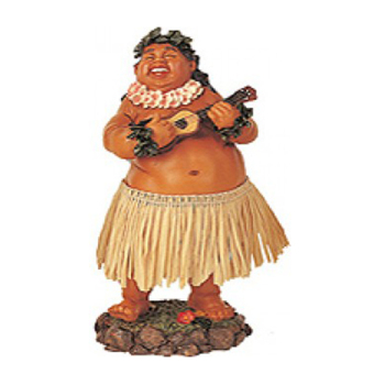 "7"" Leilani Hawaiian Dashboard Hula Doll Bradda Ed - Natural"
