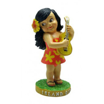 "4"" Miniature Hawaiian Hula Dashboard Doll - Island Girl"