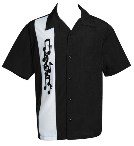Steady Clothing Music Note Applique Button Up Shirt
