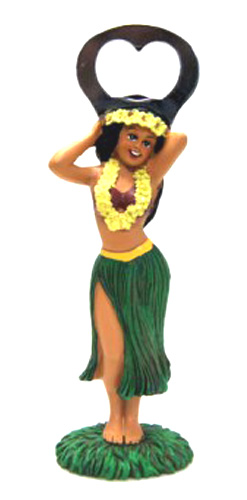 Hawaiian Hula Girl Bottle Opener