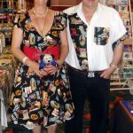carole & sam in alexander henry route 66 fabric