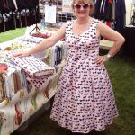 tina in her riley blake retro glasses dress