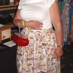 theresa in her wilmington prints packed signs skirt
