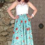 susan in michael miller atomic turquoise fabric