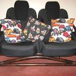 alans cushions in alexander henry chop top and hot rockin fabrics