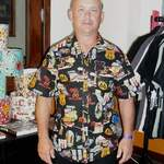 tony in alexander henry route 66 fabric