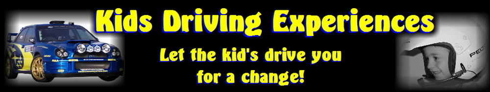 kids driving experiences, site logo.