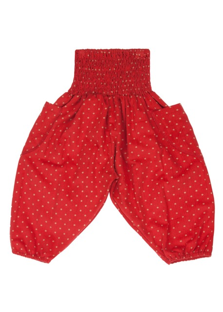 lovemeels Polka Corduroy Toddler Harem Pants