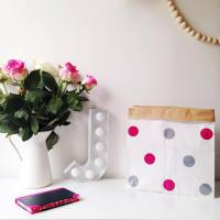 Monpetitzoreol - Storage Bag Medium - Pink Silver Spots