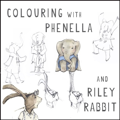 TBJC Colouring with Phenella and Riley Rabbit