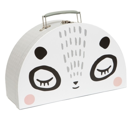 Petit Monkey Double face suitcase Mr & Mrs panda L