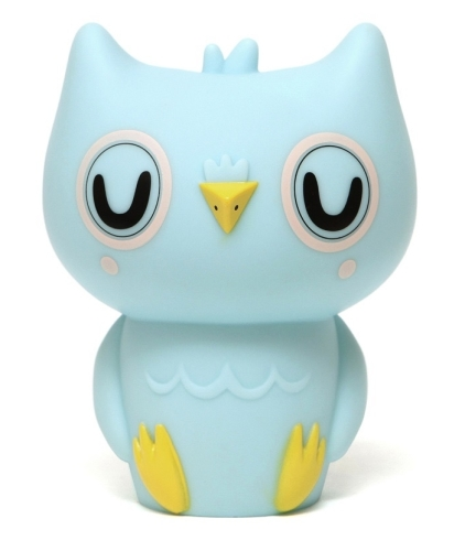 Petit Monkey Owl Lamp Blue