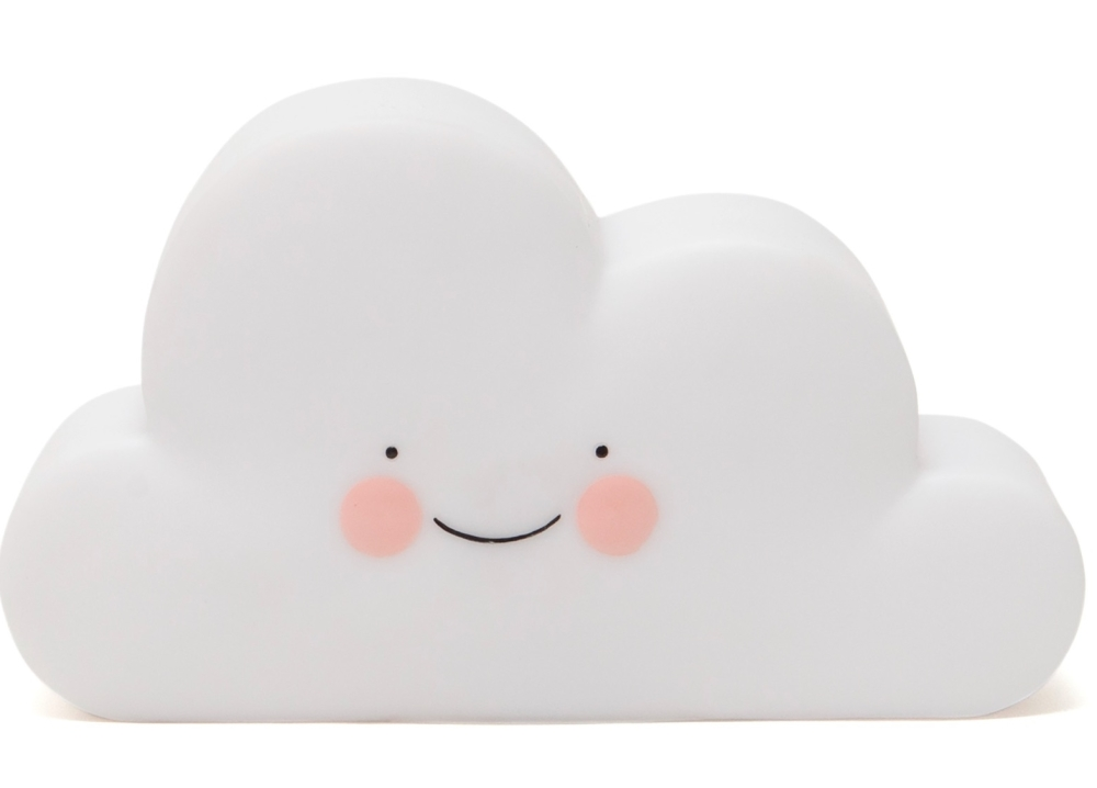 Petit Monkey Cloud Lamp - white