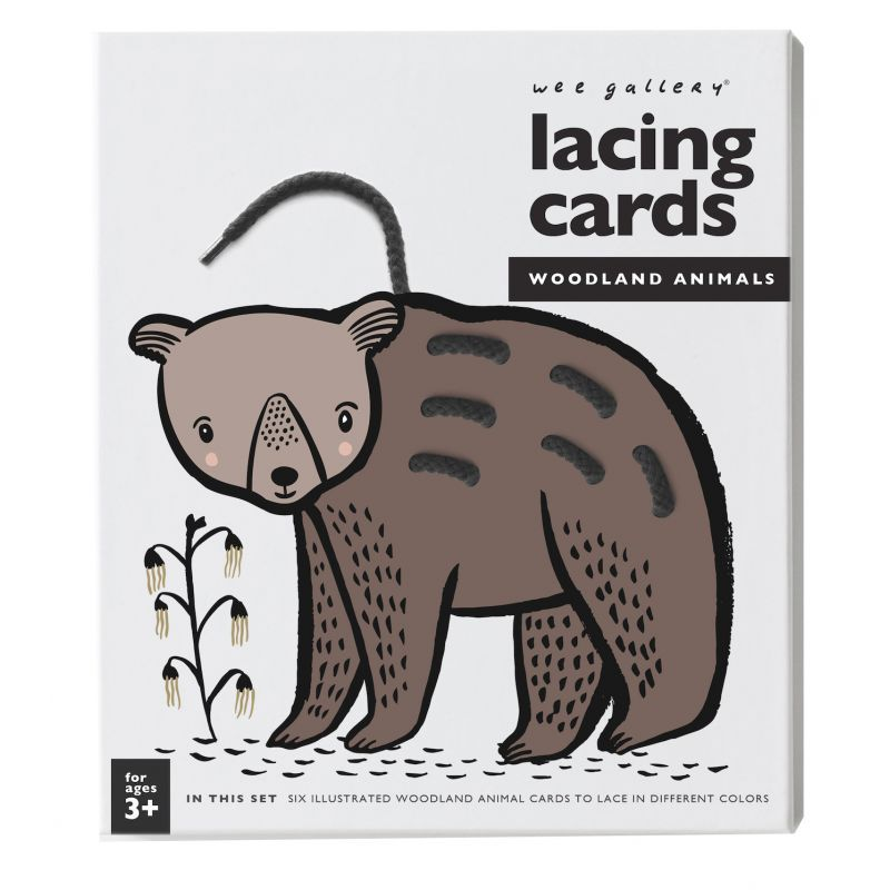 Wee Gallery - Lacing Cards - Woodland Animals