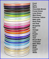 Plain Double Sided Satin ribbon