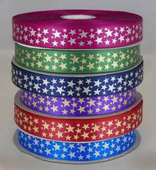 Star Print ribbon 25mm