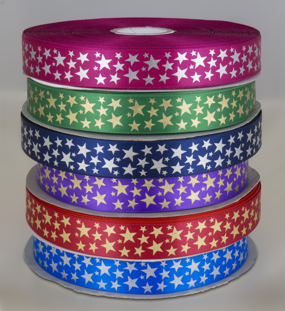 Star Print ribbon 25mm