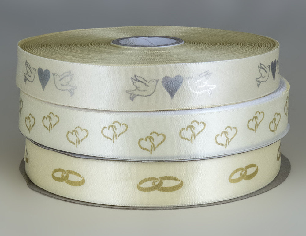 Ivory Wedding ribbon 25mm