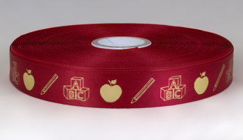 Teacher Ribbon 25mm Satin