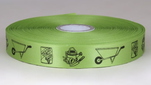 Gardening Ribbon 25mm Satin