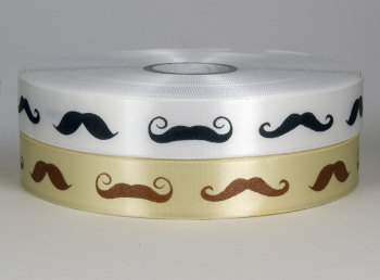 25mm Moustaches Ribbon