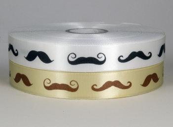 25mm Moustaches Ribbon