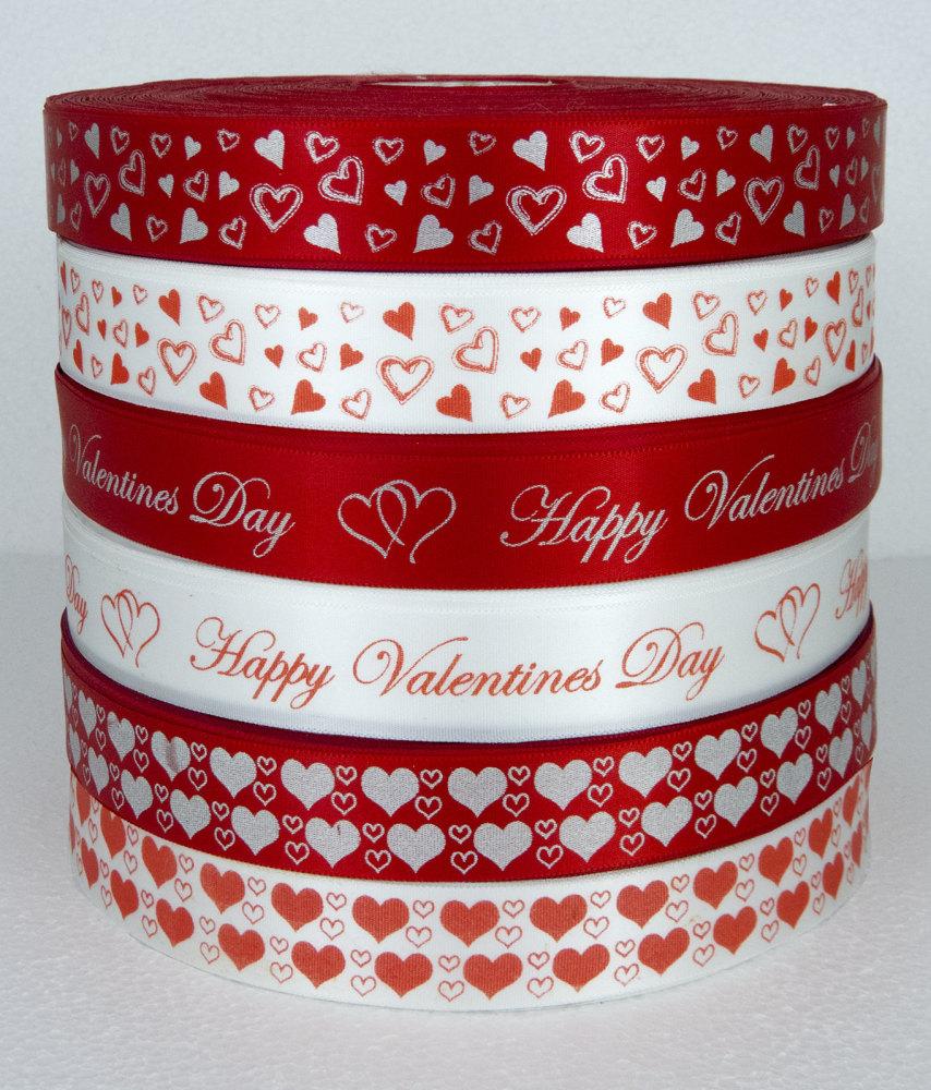 Valentines satin ribbon 25mm width