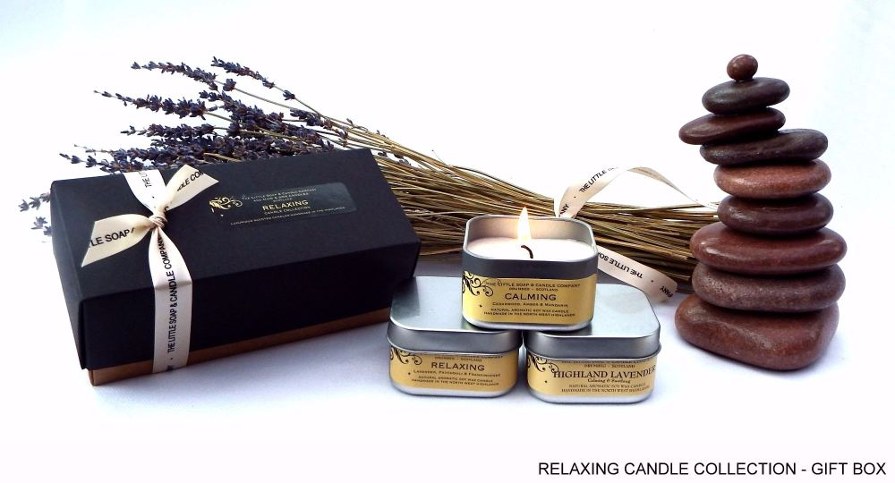 relaxing candle collection gift box