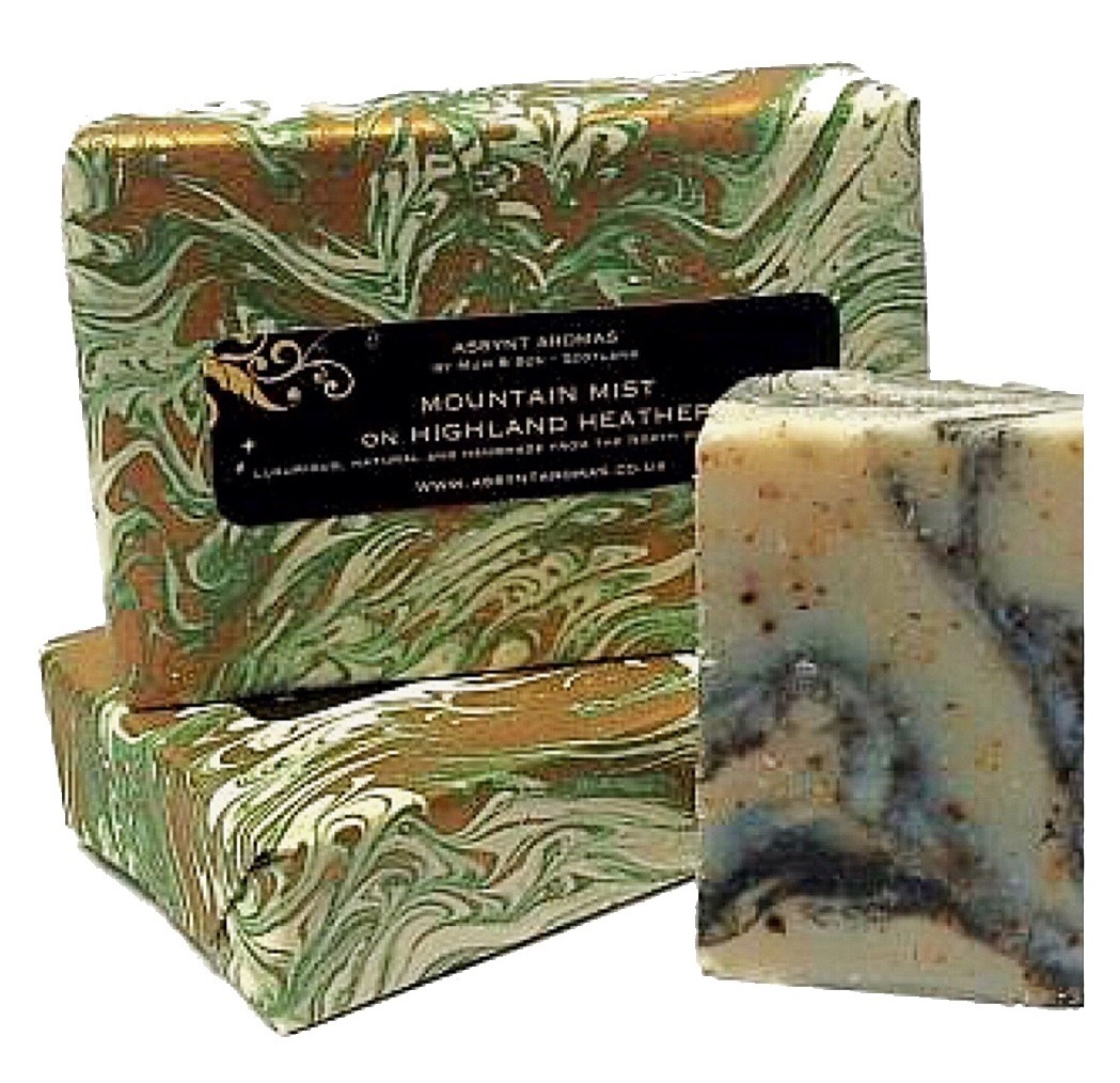 MOUNTAIN MIST on HIGHLAND HEATHER - handmade soap