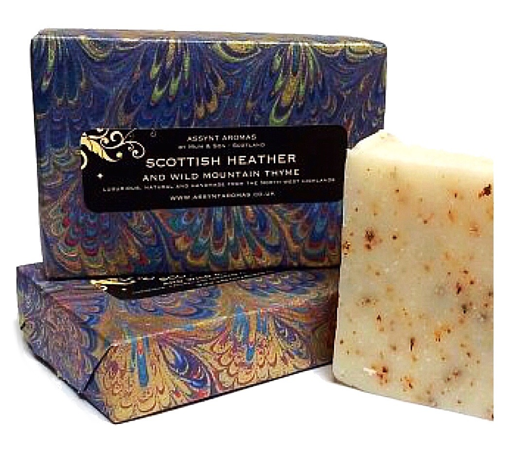 SCOTTISH HEATHER & WILD MOUNTAIN THYME -  handmade soap