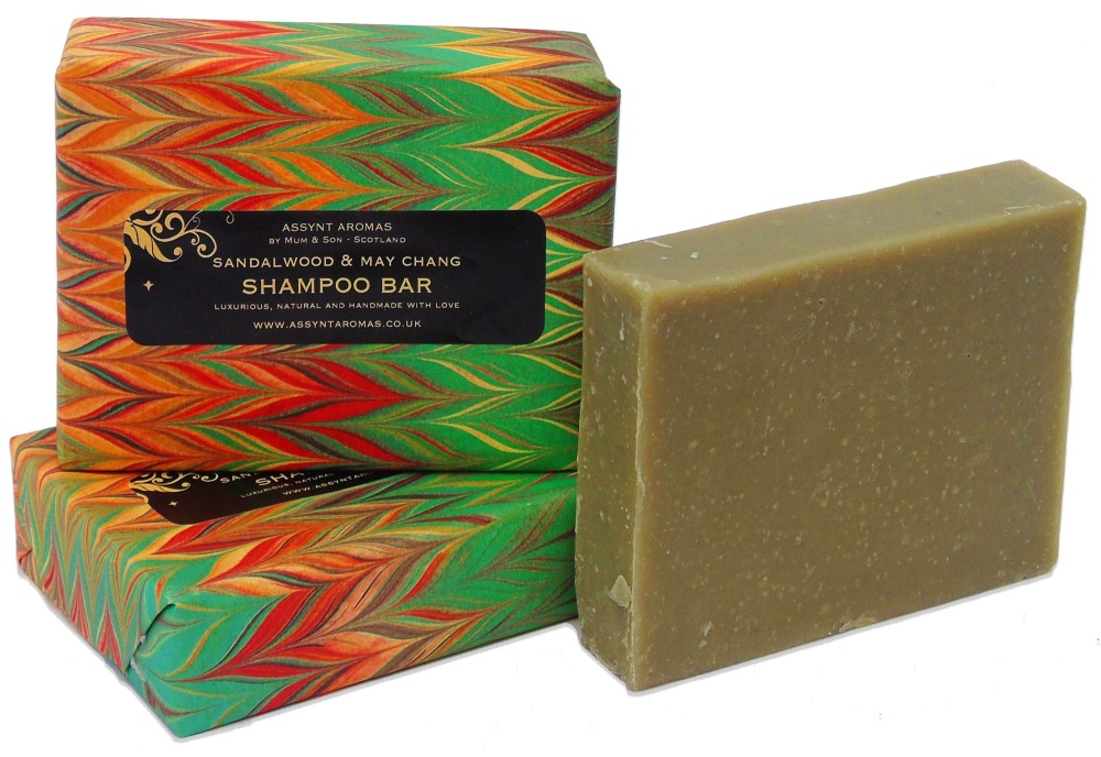 SANDALWOOD & MAY CHANG - handmade SHAMPOO bar