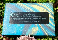 Foot Therapy - PEPPERMINT FOOT CLEANSING BAR - handmade soap