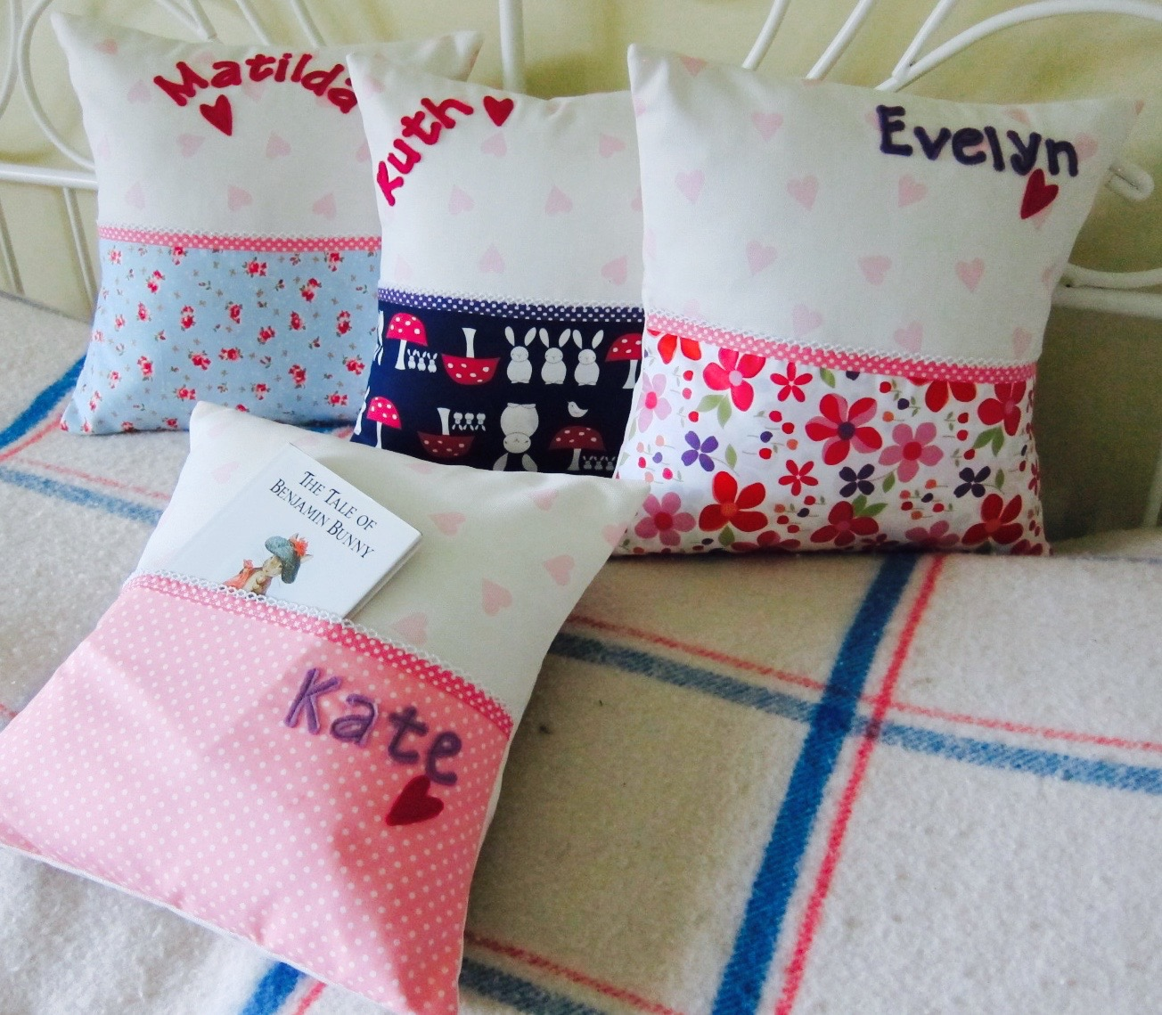 girls story book cushions