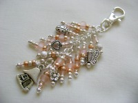 <!-- 019 -->Champagne Fairy House Bag Charm/Key Ring