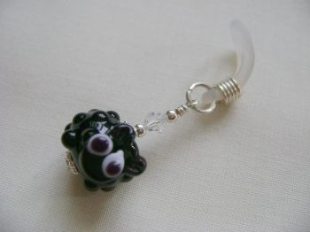 Black Glass Sheep Needle Holder