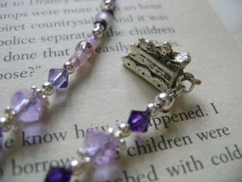 Afternoon Tea Beaded Thong Bookmark
