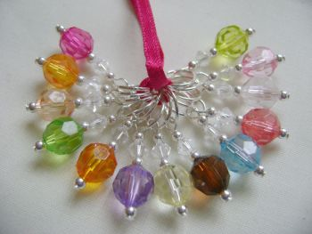 Rainbow Faceted Acrylic Stitch Markers