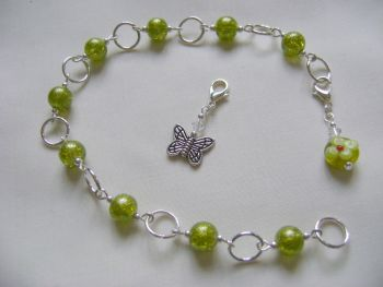 Green Sparkle Butterfly Row Counter