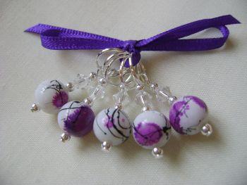 Purple Drizzle Art Glass
