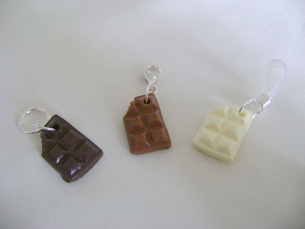 Polymer Clay Chocolate Bars