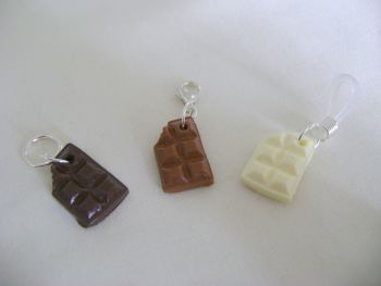 Polymer Clay Chocolate Bars - pack of 3