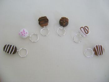 Polymer Clay Chocolates - pack of 6